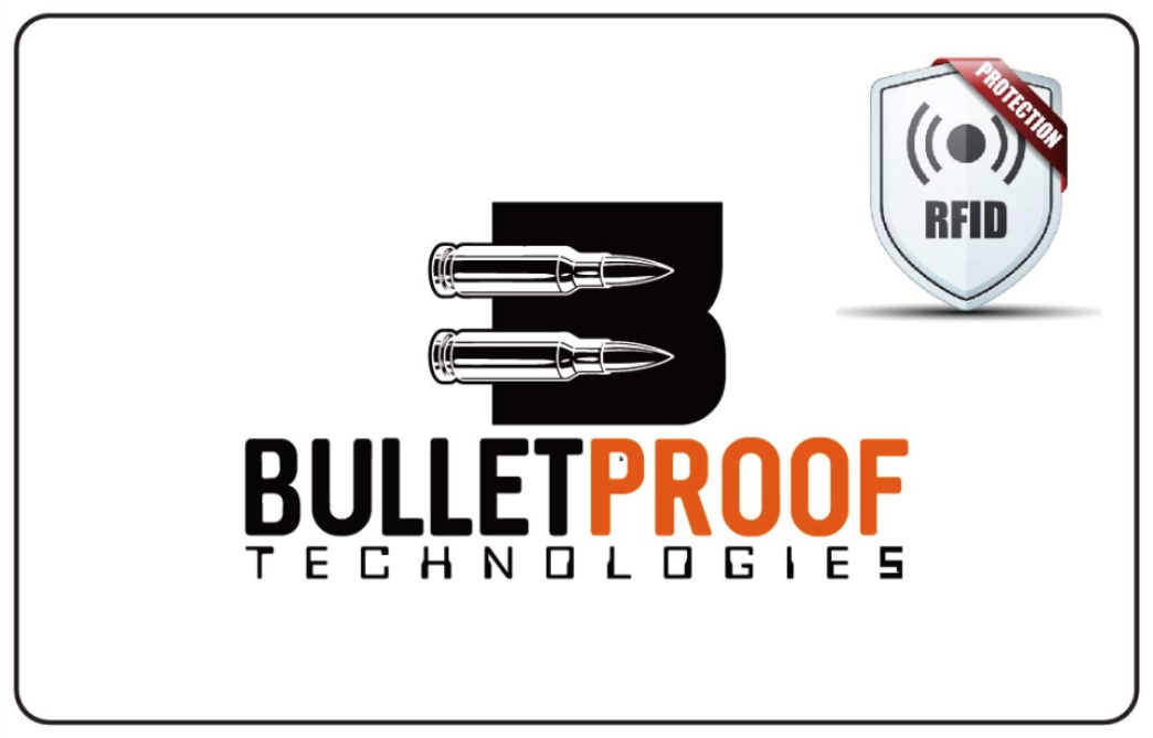 Bullet Proof Technologies RFID  blocking cards actie